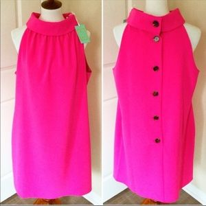 Sail to Sable Pink High Neck Dress